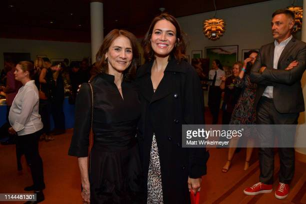 Deborah Oppenheimer and Mandy Moore attend the LA premiere of HBO's Foster on April 22 2019 in Los Angeles California