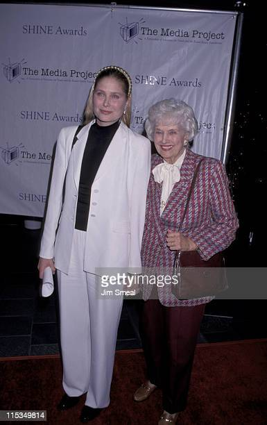 Deborah Raffin and Mother Trudi during 1999 Shine Awards at Skirball Cultural Center in Los Angeles California United States