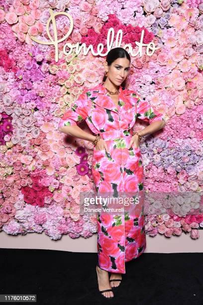 Deborah Reyner attends Pomellato Pink Party on September 20, 2019 in Milan, Italy.