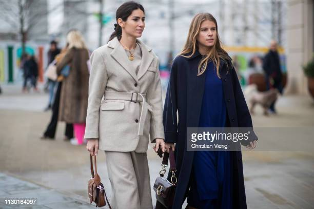 Deborah Reyner Sebag and Monica de La Villardière seen outside ALEXACHUNG during London Fashion Week February 2019 on February 16 2019 in London...