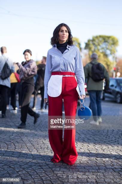 Deborah Reyner Sebag is seen attending Chanel during Paris Fashion Week wearing Chanel on October 3 2017 in Paris France