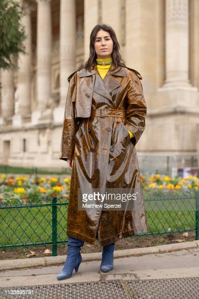 Deborah Reyner Sebag is seen on the street attending CHANEL during Paris Fashion Week AW19 wearing CHANEL on March 05 2019 in Paris France