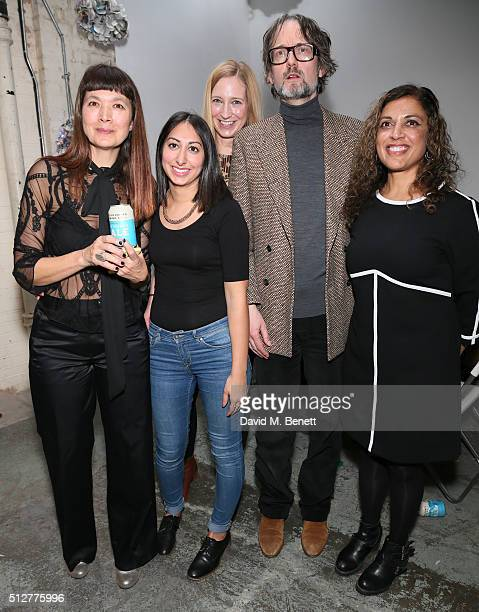 Deborah Rigby Maryam Khan Dr Stefanie Wittman Jarvis Cocker and Ruby Siddiqui attend the Medecins Sans Frontieres art and music fundraising event on...
