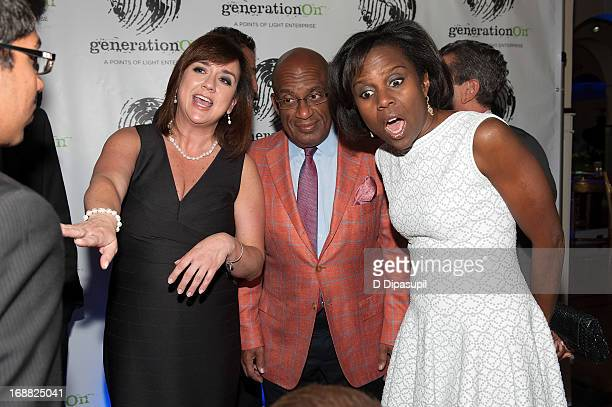 Deborah Roberts Al Roker and generationOn executive director Concetta Anne Bencivenga attend the 2013 Outstanding Leadership In Youth Service Benefit...