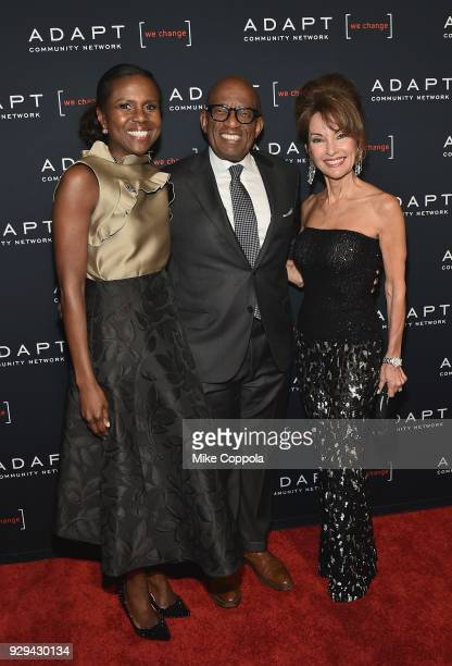 Deborah Roberts Al Roker and Susan Lucci attend the Adapt Leadership Awards Gala 2018 at Cipriani 42nd Street on March 8 2018 in New York City
