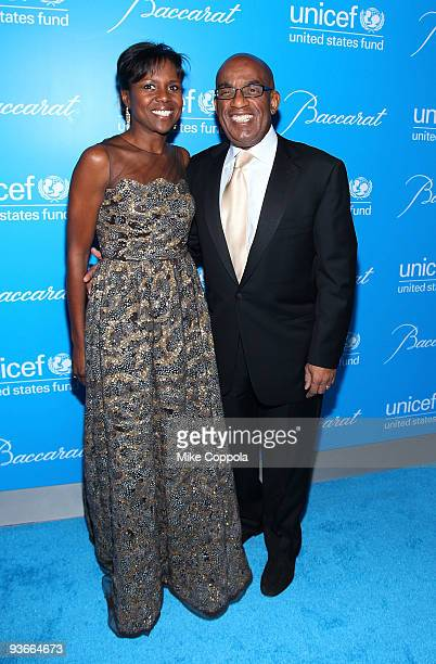 Deborah Roberts and Al Roker attend the 2009 UNICEF Snowflake Ball at Cipriani 42nd Street on December 2, 2009 in New York City.