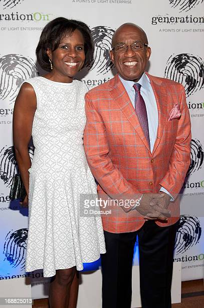Deborah Roberts and Al Roker attend the 2013 Outstanding Leadership In Youth Service Benefit at 583 Park Avenue on May 15 2013 in New York City