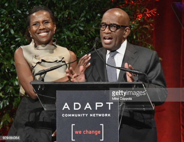 Deborah Roberts and Al Roker speaks during the Adapt Leadership Awards Gala 2018 at Cipriani 42nd Street on March 8 2018 in New York City