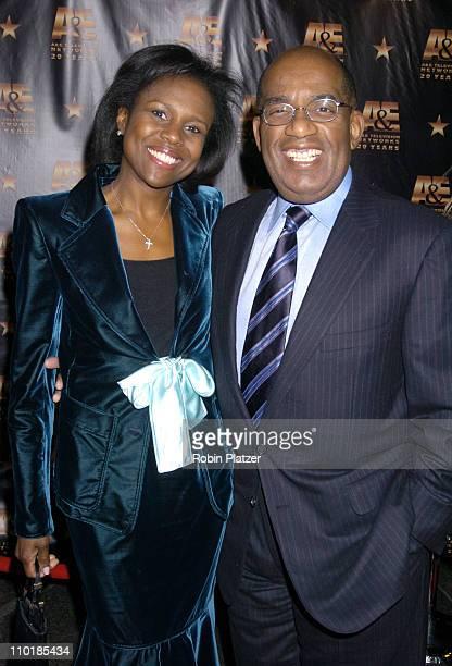 Deborah Roberts and husband Al Roker during A E Televisions 20th Anniversary Celebration at Mandarin Oriental Hotel in New York City New York United...