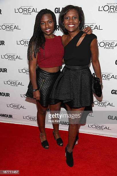 Deborah Roberts and Leila Roker attend the Glamour Magazine 23rd annual Women Of The Year gala on November 11 2013 in New York United States