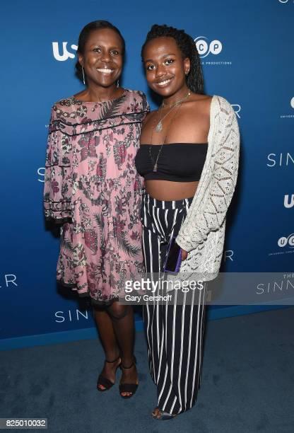Deborah Roberts and Leila Roker attend The Sinner series premiere screening at Crosby Street Hotel on July 31 2017 in New York City