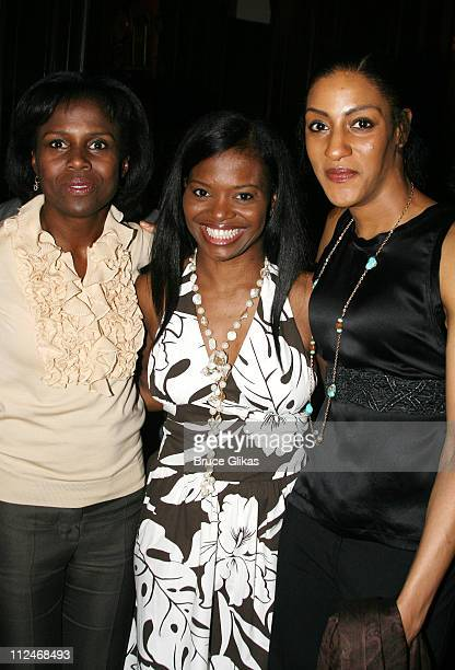 Deborah Roberts LaChanze and Sarah Jones during Ken Sunshine Consultants Celebrate LaChanze and Sarah Jones June 5 2006 at The National Arts Club in...