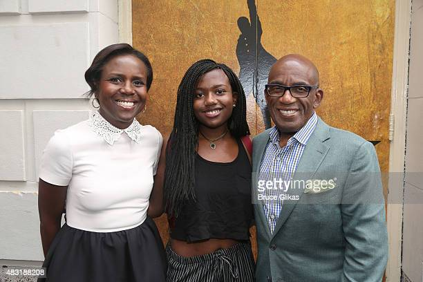 Deborah Roberts Leila Roker and Al Roker attend Hamilton Broadway opening night at Richard Rodgers Theatre on August 6 2015 in New York City