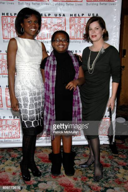 Deborah Roberts Leila Roker and Marcia Gay Harden attend HELP USA 2009 DOMESTIC VIOLENCE SURVIVOR Scholarship Awards Luncheon at Tavern On The Green...