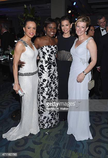 Deborah Roberts Rebecca Jarvis and guests attend the Yahoo News/ABC News White House Correspondents' dinner reception preparty at the Washington...