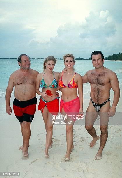 Deborah Sasson Lebensgefährte DieterTings Michel Sasson Lebensgefährtin Julie BannertonGrand Cayman Island Strand BadehoseBikini Meer Karibik