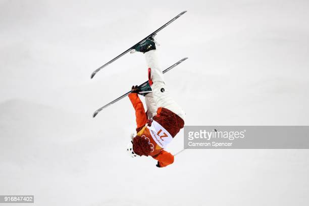 Deborah Scanzio of Switzerland competes during the Freestyle Skiing Ladies' Moguls Qualification on day two of the PyeongChang 2018 Winter Olympic...