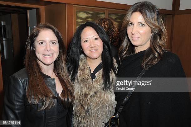 Deborah Sharpe Julie Miyoshi and Nathalie Marciano attend Lisa Edelstein's Birthday Party at Private Residence on May 21 2016 in Silverlake CA