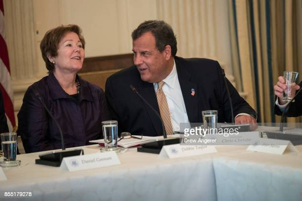 Deborah Simpson Taylor Executive Officer of Phoenix House MidAtlantic and New Jersey Governor Chris Christie both members of the White House's opioid...