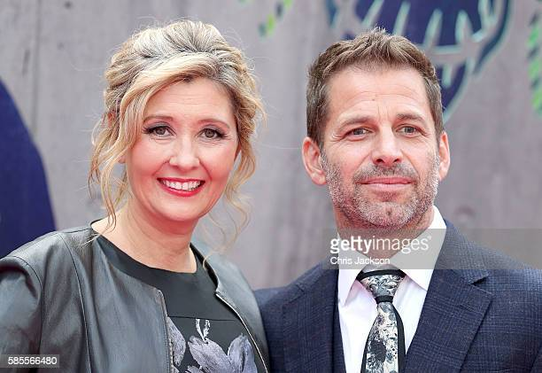Deborah Snyder and Zack Snyder attend the European Premiere of 'Suicide Squad' at the Odeon Leicester Square on August 3 2016 in London England