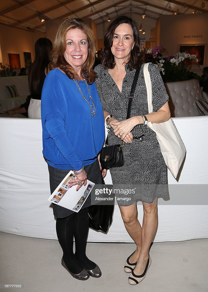 Deborah Spiegelman and Maryanne Divine pose during the 5th Annual Museum Professionals & Curators Brunch at Art Miami VIP Lounge on December 6, 2012 in Miami, Florida.