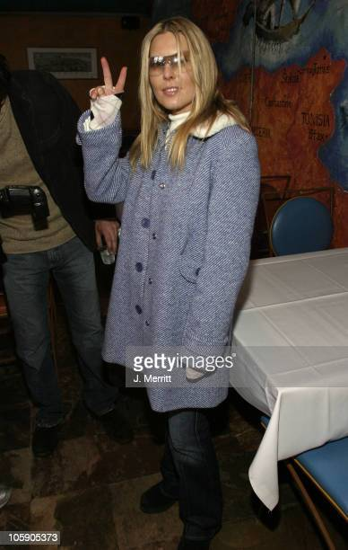 Deborah Unger during 2004 Sundance Film Festival One Point O Premiere After Party at Library Center Theater in Park City Utah United States
