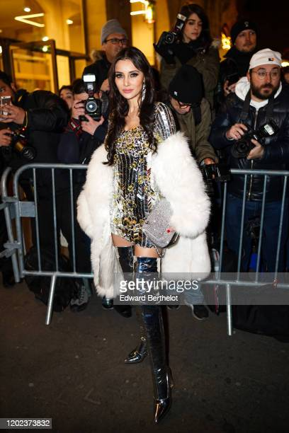 Deborah ValdezHung is seen outside the JeanPaul Gaultier show during Paris Fashion Week Haute Couture Spring/Summer 2020 on January 22 2020 in Paris...