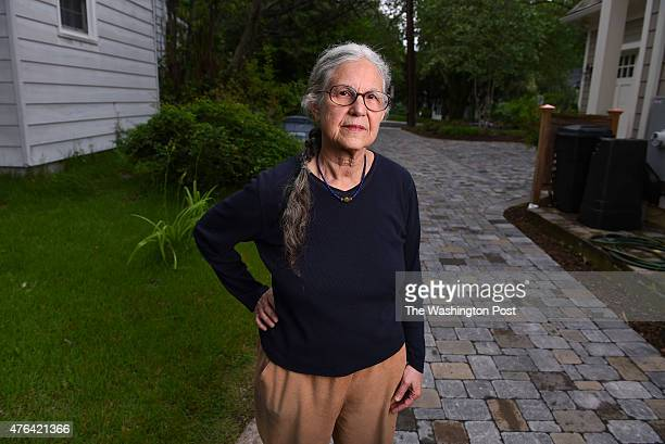 Deborah Vollmer is photographed at her home on June 5 2015 in Chevy Chase Md Vollmer is seen standing on her side of the driveway that her neighbors...