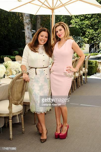Deborah Waknin and Lorena Sarbu attend Lorena Sarbu Resort 2014 Luncheon on July 24 2013 in Beverly Hills California