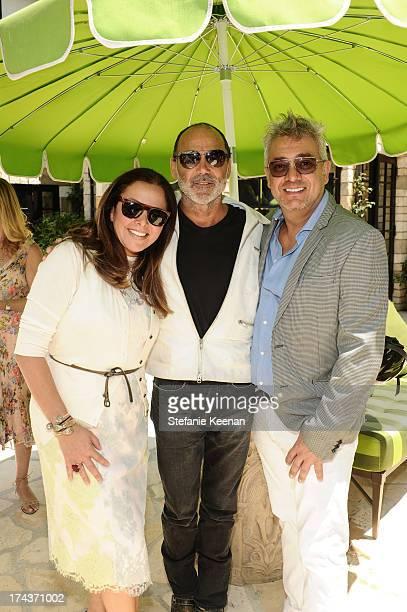Deborah Waknin and Timothy White attend Lorena Sarbu Resort 2014 Luncheon on July 24 2013 in Beverly Hills California
