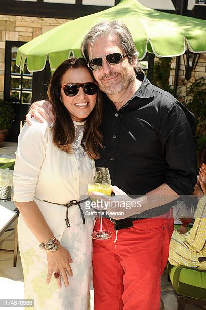 Deborah Waknin and Vincent Boucher attend Lorena Sarbu Resort 2014 Luncheon on July 24 2013 in Beverly Hills California