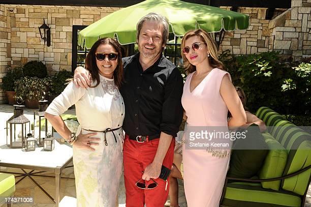 Deborah Waknin Vincent Boucher and Lorena Sarbu attend Lorena Sarbu Resort 2014 Luncheon on July 24 2013 in Beverly Hills California