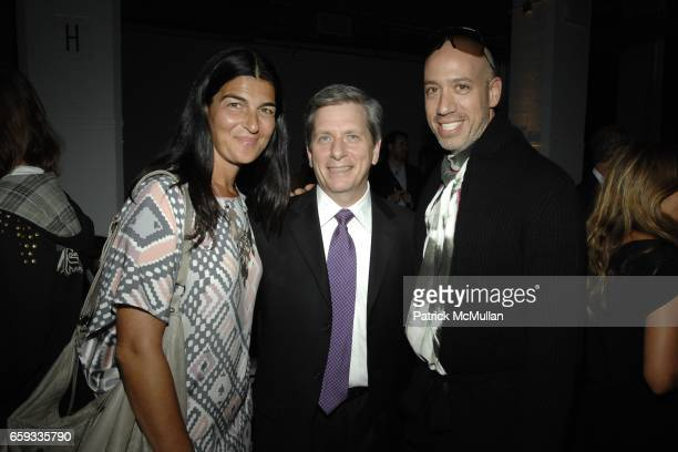 Deborah Watson Larry Boland and Robert Verdi attend MICHAEL BASTIAN Spring/Summer 2010 Collection at Exit Art on September 14 2009 in New York City
