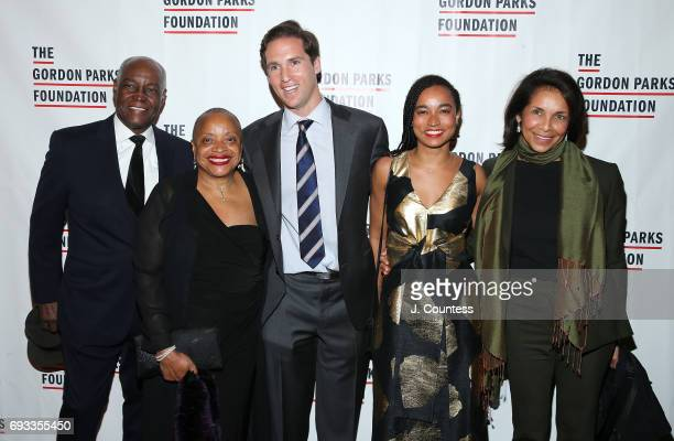 Deborah Willis Executive Director of the Gordon Parks Foundation Peter Kunhardt Jr and guest attend the 2017 Gordon Parks Foundation Awards Gala at...