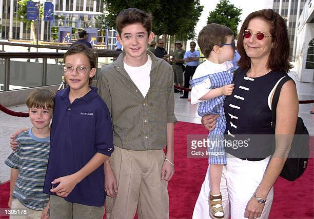 Deborah Winger right and her children arrive at the premiere of the movie 'Thomas and The Magic Railroad' July 22 2000 in Los Angeles