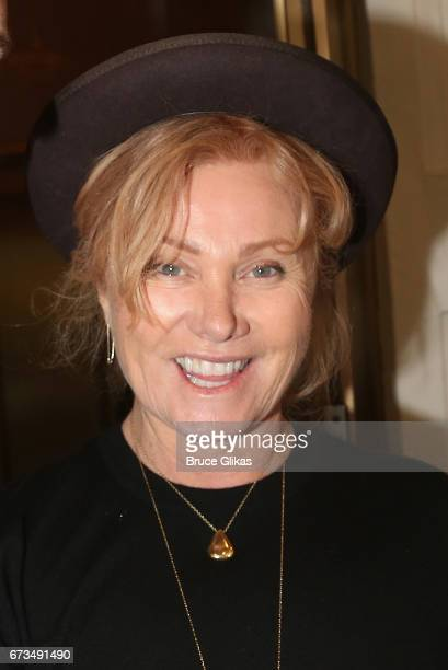 Deborra Lee Furness poses at the hit musical 'Come From Away' on Broadway at The Gerald Schoenfeld Theatre on April 26 2017 in New York City