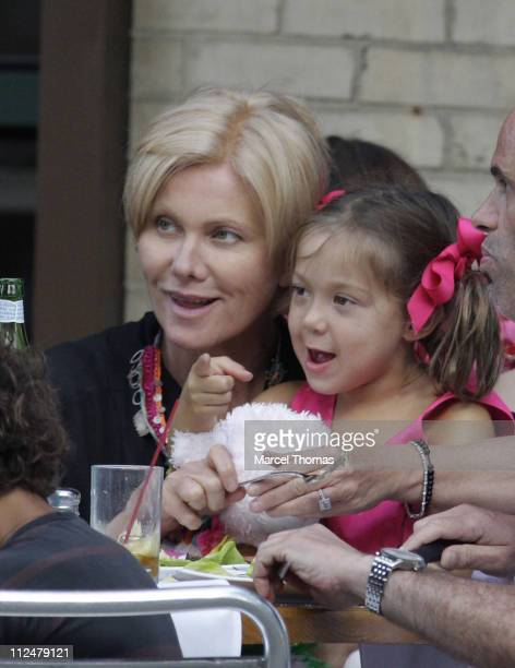 Deborra LeeFurness and Ava Jackman are sighted dining out on the Streets of Manhattan on July 10 2009 in New York City
