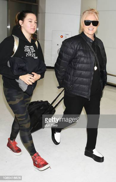 DeborraLee Furness and Ava Eliot Jackman are seen upon arrival at Narita International Airport on January 20 2019 in Narita Japan