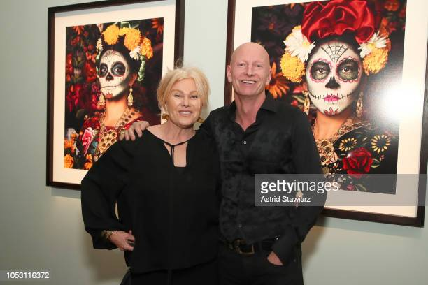 Deborralee Furness and honoree Jimmy Nelson attend the Stephan Weiss Apple Awards at Urban Zen on October 24 2018 in New York City