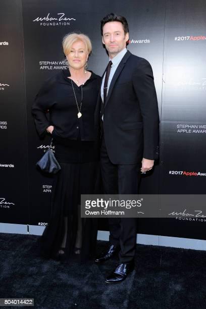 DeborraLee Furness and Hugh Jackman attend 2017 Stephan Weiss Apple Awards at Urban Zen on June 7 2017 in New York City