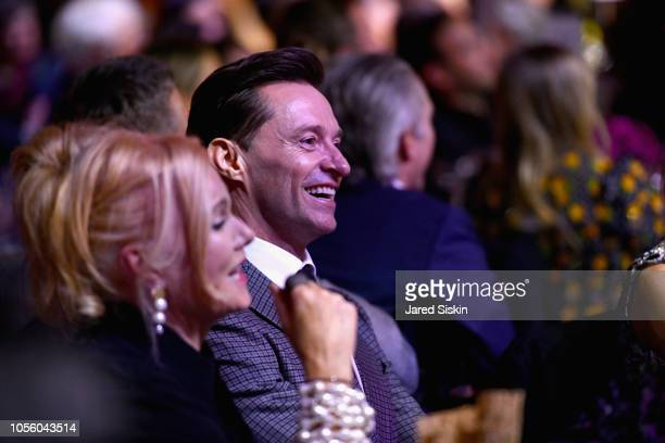 Deborralee Furness and Hugh Jackman attend The 12th Annual Golden Heart Awards at Spring Studios on October 16 2018 in New York City