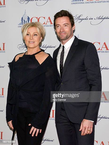 Deborralee Furness and Hugh Jackman attend the 15th annual Angels In Adoptions awards at Ronald Reagan Building and International Trade Center on...