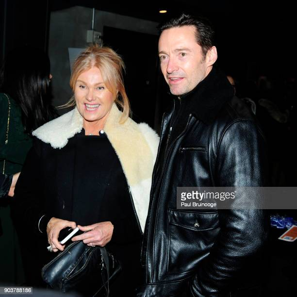 Deborralee Furness and Hugh Jackman attend The Cinema Society Bluemercury host the premiere of IFC Films' Freak Show at Landmark Sunshine Cinema on...