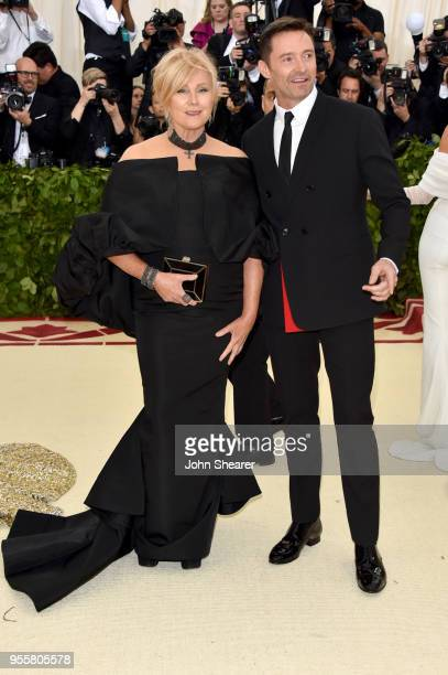 Deborralee Furness and Hugh Jackman attend the Heavenly Bodies Fashion The Catholic Imagination Costume Institute Gala at The Metropolitan Museum of...