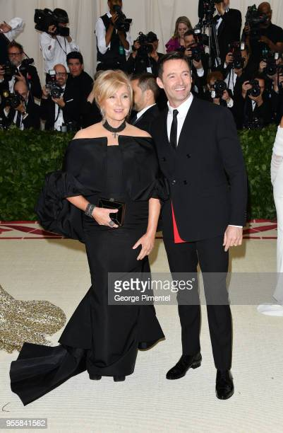 Deborralee Furness and Hugh Jackman attend the Heavenly Bodies Fashion The Catholic Imagination Costume Institute Gala at Metropolitan Museum of Art...