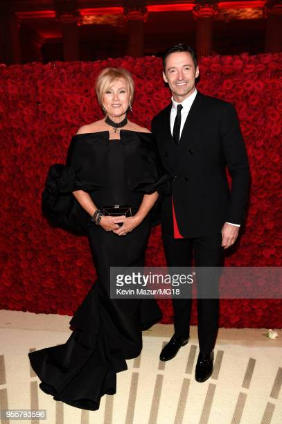 Deborralee Furness and Hugh Jackman attends the Heavenly Bodies Fashion The Catholic Imagination Costume Institute Gala at The Metropolitan Museum of...