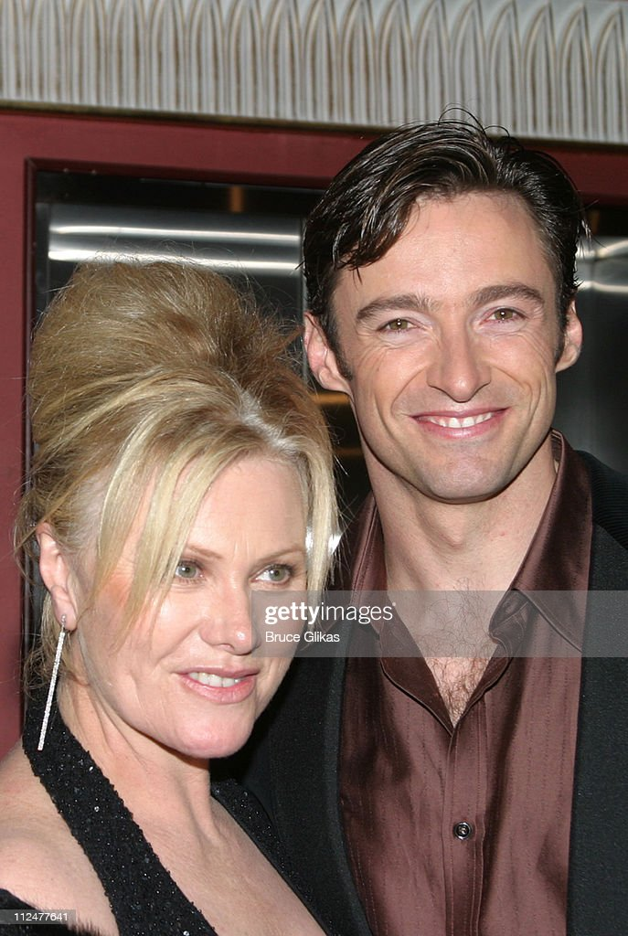Deborra-Lee Furness and Hugh Jackman during Opening Night of 'The Boy From Oz' - Arrivals and After Party at The Imperial Theater and Copacabana Nightclub in New York City, New York, United States.