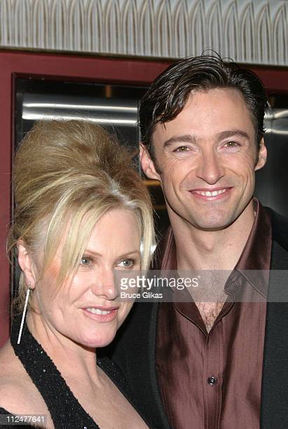 """Deborra-Lee Furness and Hugh Jackman during Opening Night of """"The Boy From Oz"""" - Arrivals and After Party at The Imperial Theater and Copacabana..."""