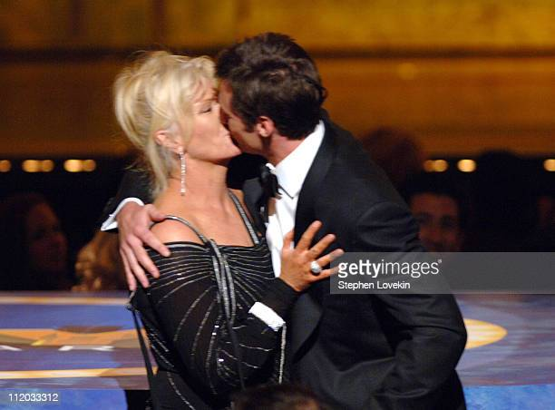 DeborraLee Furness and Hugh Jackman host during 59th Annual Tony Awards Show at Radio City Music Hall in New York City New York United States