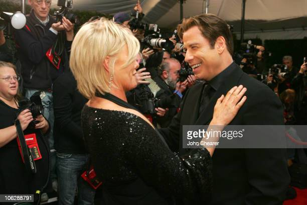 DeborraLee Furness and John Travolta during G'Day LA Australia Week 2006 Penfolds Icon Gala Dinner Red Carpet in Los Angeles California United States